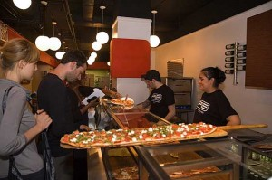 Thin Crust Pizza At PIE By The Pound