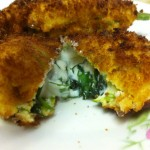 Ricotta Stuffed Zucchini Flowers, FRIED!
