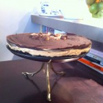 Chocolate Peanut Butter Cream Cheese Mousse Pie with Oreo Crust