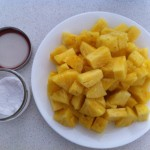 Pineapple Sprinkled with Sea Salt