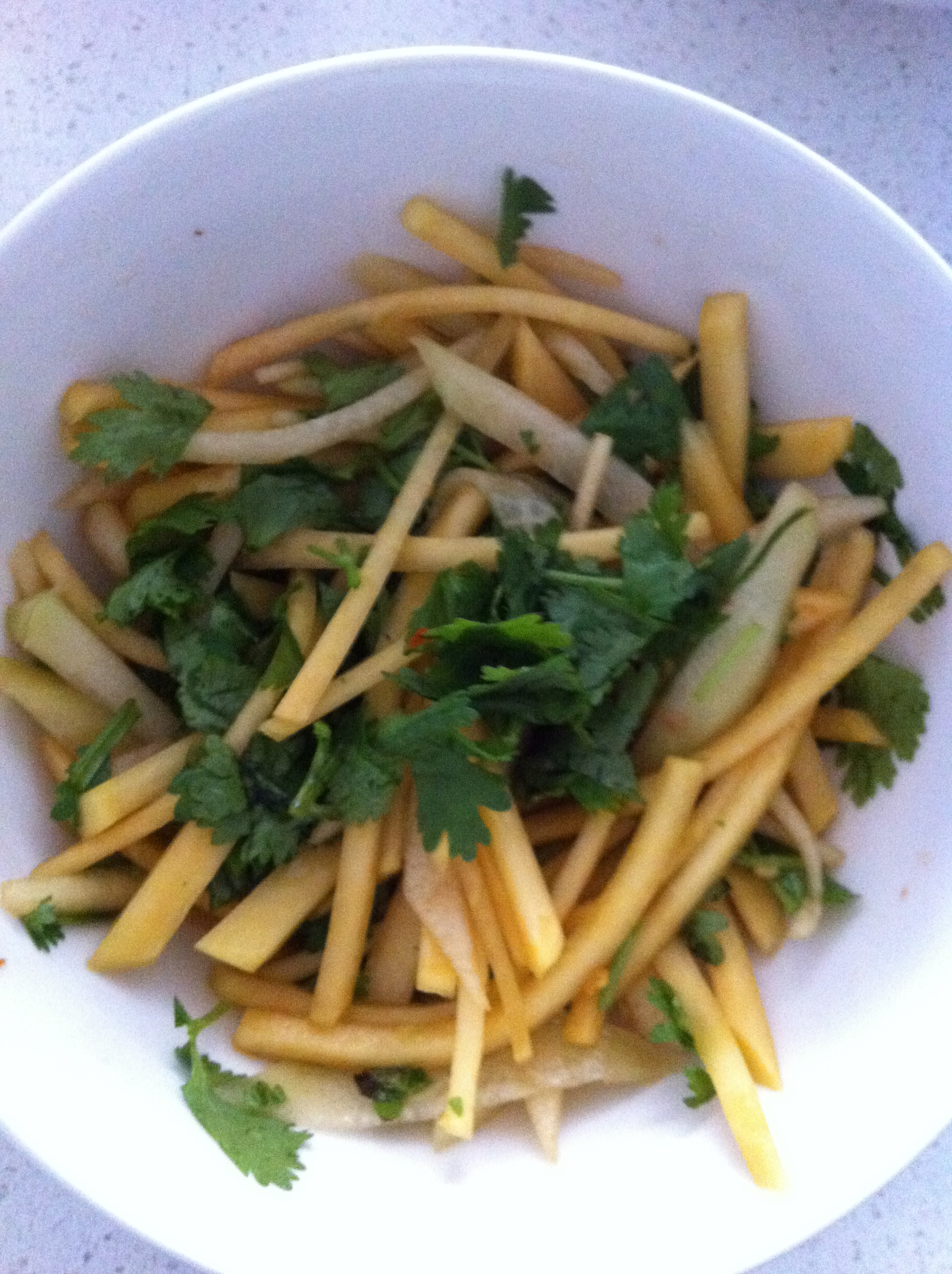 Asian Rutabaga, Chayote and Green Apple Salad | Chasing James Beard