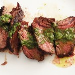 Hangar Steak with Chimichurri Sauce