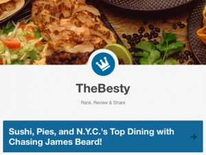 Chasing James Beard on TheBesty.com