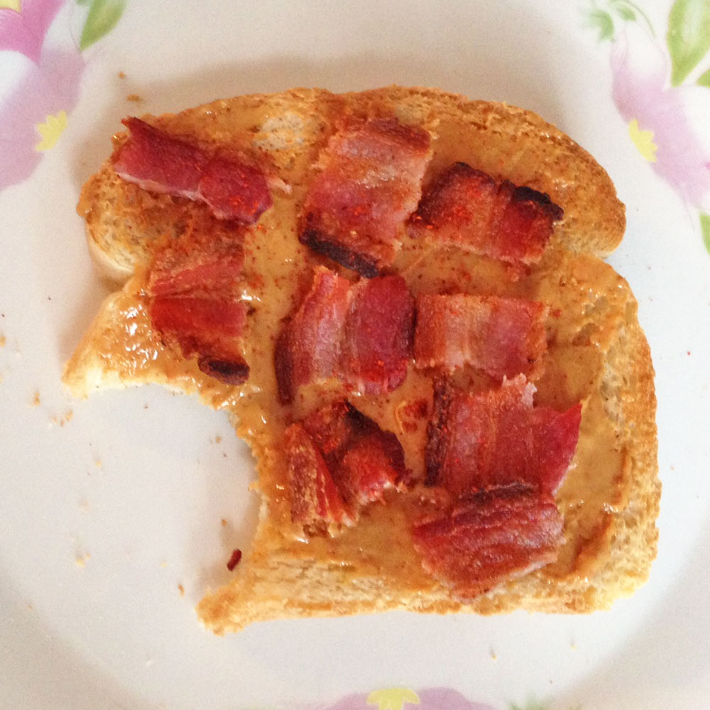 bacon peanut butter sandwich
