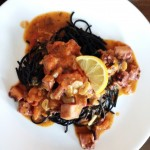 Squid Ink Pasta With Octopus