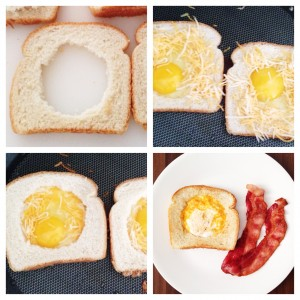 Grilled Cheese Egg in a Hole Recipe