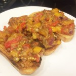 Sweet, Roasted Eggplant & Pepper Salad Recipe