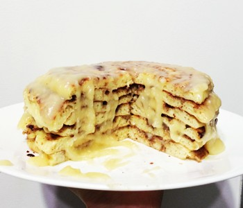 cinammon roll pancakes 350