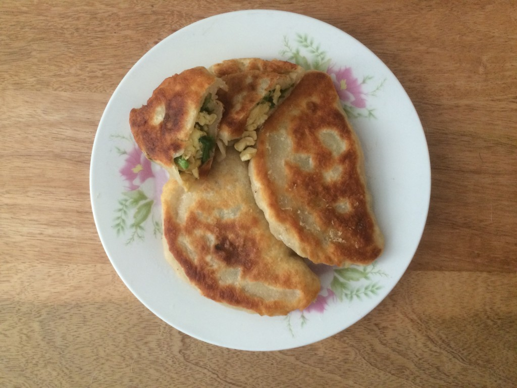 Egg and Chive pockets