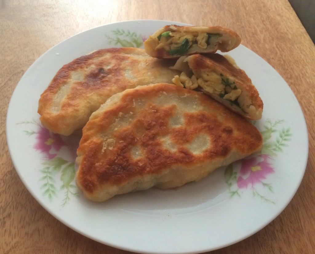 Egg and chive pockets 2