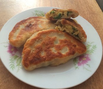 Egg and chive pockets 350